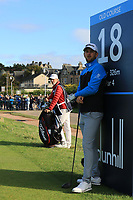 Bernd Wiesberger (AUT) on the 18th tee during Round 3 of the Alfred Dunhill Links Championship 2019 at St. Andrews Golf CLub, Fife, Scotland. 28/09/2019.<br /> Picture Thos Caffrey / Golffile.ie<br /> <br /> All photo usage must carry mandatory copyright credit (© Golffile | Thos Caffrey)