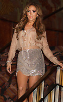 New York City<br /> 2/21/2011 STOCK FILE PHOTO<br /> Jennifer Lopez gets a leg-up with Gillette Venus. Lopez becomes the brand 's first-ever Global Ambassador and launches the Venus goddess and reveals her new version of the song ''Venus'.<br /> Photo by John Barrett-PHOTOlink.net