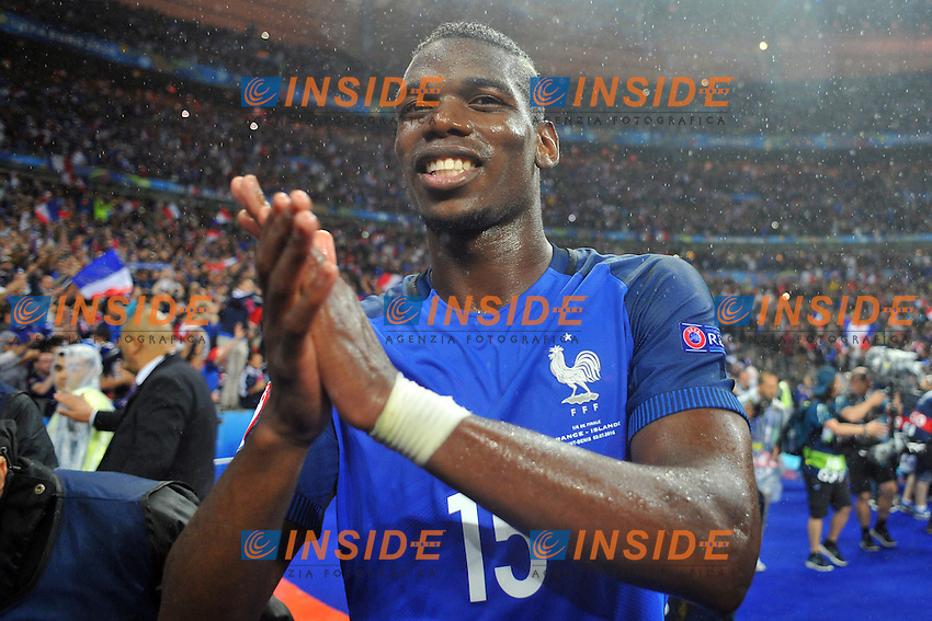 Paul Pogba of France <br /> Paris 03-07-2016 Stade de France Football Euro2016 France - Iceland / Francia - Islanda Quarter finals <br /> Foto Philippe LECOEUR / Panoramic / Insidefoto