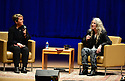 MIAMI, FL - DECEMBER 17: An Evening With author/musician Patti Smith in conversation with Cristina Favretto (L) about Patti Smith new book 'Year of the Monkey' at Adrienne Arsht Center for the Performing Arts - Knight Concert Hall  in partnership with Books & Books and the Miami Book Fair on December 17, 2019 in Miami, Florida. ( Photo by Johnny Louis / jlnphotography.com )