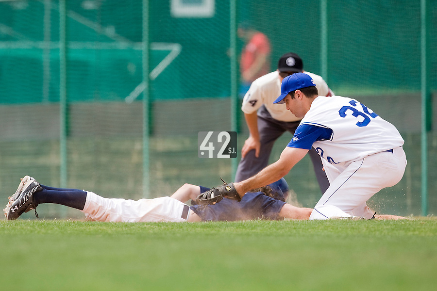 BASEBALL - GREEN ROLLER PARK - PRAGUE (CZECH REPUBLIC) - 25/06/2008 - PHOTO: CHRISTOPHE ELISE. SEBASTIEN BOYER (TEAM FRANCE)