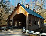 Emerts Cove Covered Bridge in Pittman Center, Tennessee. Smoky Mountain photos by Gordon and Jan Brugman.