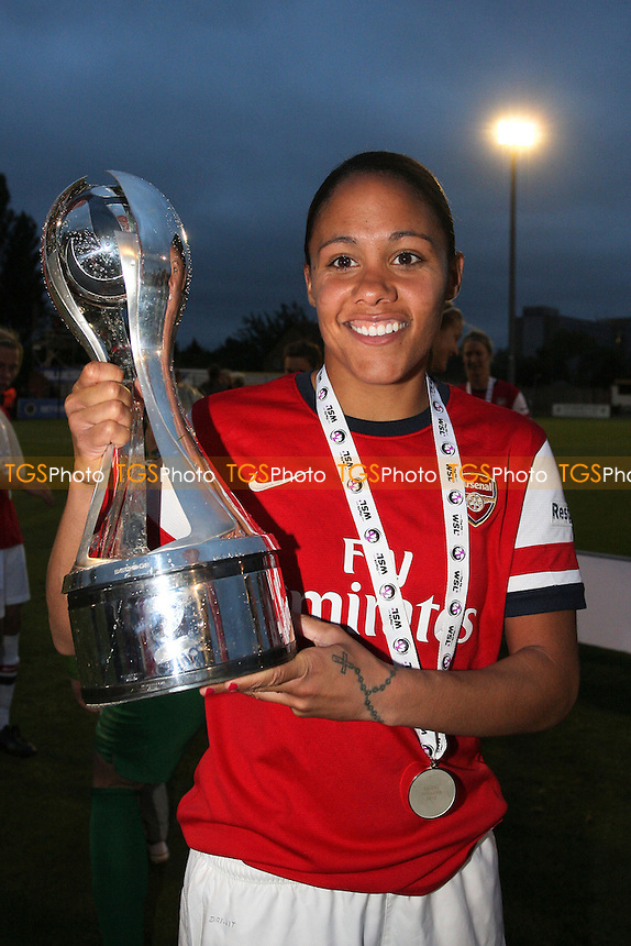 Alex Scott of Arsenal celebrates winning the FAWSL Championship - Arsenal Ladies vs Doncaster Rovers Belles - FA Womens Super League Football at Boreham Wood FC - 30/09/12 - MANDATORY CREDIT: Gavin Ellis/TGSPHOTO - Self billing applies where appropriate - 0845 094 6026 - contact@tgsphoto.co.uk - NO UNPAID USE.