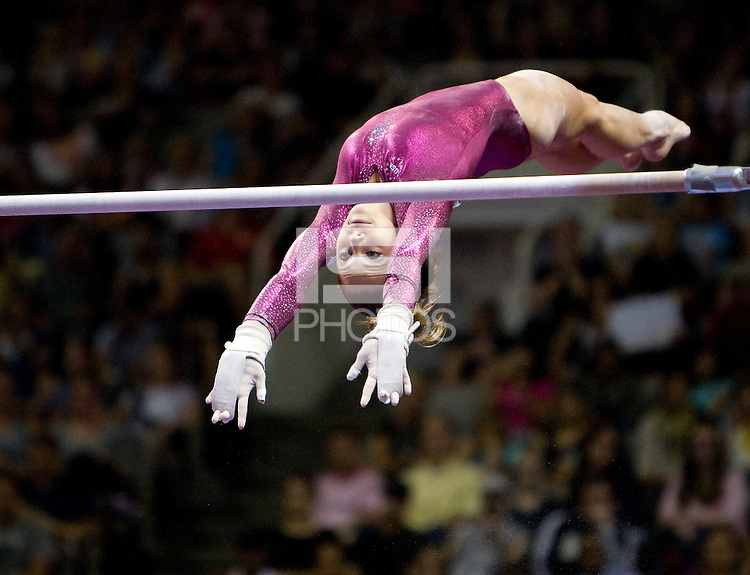 McKayla Maroney of All Olympia competes on uneven bars during 2012 US Olympic Trials Gymnastics Finals at HP Pavilion in San Jose, California on July 1st, 2012.