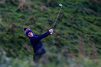David Kitt (Athenry) on the 18th fairway during Round 3 of the Ulster Boys Championship at Portrush Golf Club, Portrush, Co. Antrim on the Valley course on Thursday 1st Nov 2018.<br /> Picture:  Thos Caffrey / www.golffile.ie<br /> <br /> All photo usage must carry mandatory copyright credit (&copy; Golffile | Thos Caffrey)