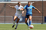 13 September 2015: UCLA's Lauren Kaskie (6) and North Carolina's Dorian Bailey (29). The University of North Carolina Tar Heels hosted the University of California Los Angeles Bruins at Fetzer Field in Chapel Hill, NC in a 2015 NCAA Division I Women's Soccer game. UNC won the game 3-1.