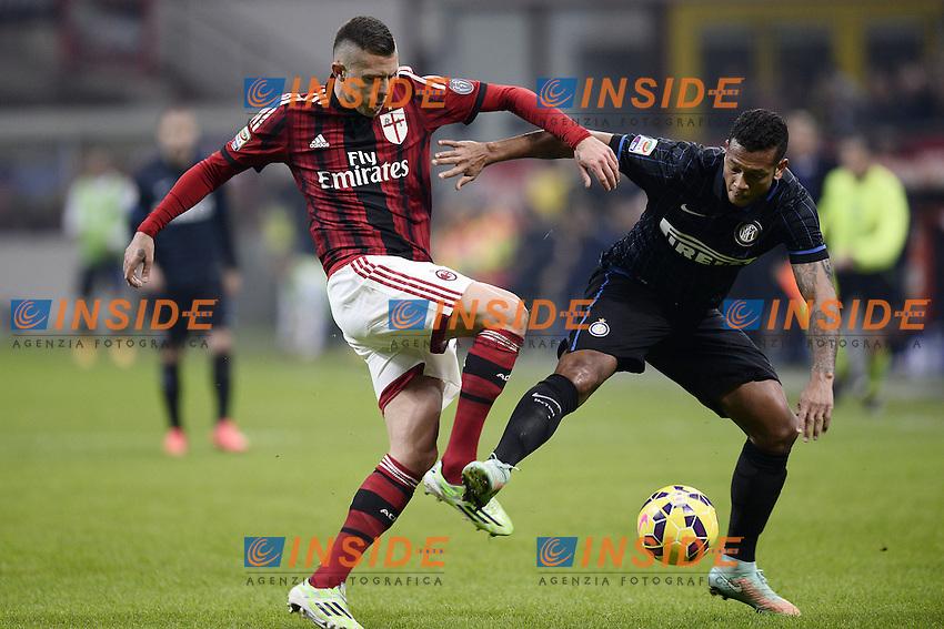 Jeremy Menez Milan, Fredy Guarin Inter <br /> Milano 23/11/2014 Stadio Giuseppe Meazza Football Calcio Serie A 2014/2015 Milan-Inter foto Daniele Buffa/Image Sport/Insidefoto