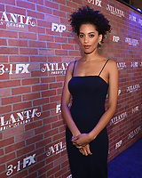 """LOS ANGELES - FEBRUARY 19: Stefani Robinson arrives at the red carpet event for FX's """"Atlanta Robbin' Season"""" at the Ace Theatre on February 19, 2018 in Los Angeles, California.(Photo by Frank Micelotta/FX/PictureGroup)"""