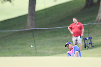 Jason Dufner (USA) chips onto the 15th green during Friday's Round 2 of the 2017 PGA Championship held at Quail Hollow Golf Club, Charlotte, North Carolina, USA. 11th August 2017.<br /> Picture: Eoin Clarke | Golffile<br /> <br /> <br /> All photos usage must carry mandatory copyright credit (&copy; Golffile | Eoin Clarke)
