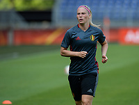 20170719 - BREDA , NETHERLANDS :  Belgian Jana Coryn pictured during Matchday -1 training session of the Belgian national women's soccer team Red Flames on the pitch of NAC BREDA , on wednesday 19 July 2017 in stadion Rat Verlegh in Breda . The Red Flames are at the Women's European Championship 2017 in the Netherlands. PHOTO SPORTPIX.BE | DAVID CATRY