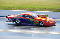 Apr. 29, 2011; Baytown, TX, USA: NHRA pro stock driver Dave River during qualifying for the Spring Nationals at Royal Purple Raceway. Mandatory Credit: Mark J. Rebilas-