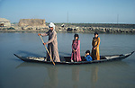 Marsh Arabs. Southern Iraq.  Children and fathers in boats. Haur al Mamar or Haur al-Hamar marsh collectively known now as Hammar marshes Iraq 1984