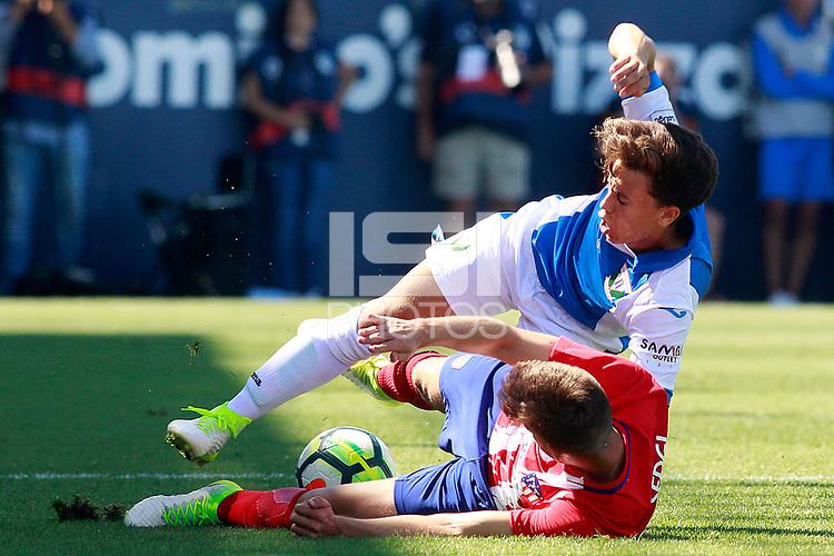 CD Leganes' Junior (t) and Atletico de Madrid's Rafa Munoz during friendly match. August 12,2017.  *** Local Caption *** &copy; pixathlon<br /> Contact: +49-40-22 63 02 60 , info@pixathlon.de