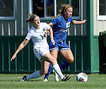 BROOKINGS, SD - SEPTEMBER 20: Annie Williams #23 from South Dakota State tries to get a step past Liz McDowell #14 from North Dakota in the first half of their match Sunday afternoon in Brookings. (Photo by Dave Eggen/Inertia)