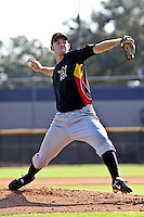 October 8, 2009:  Pitcher Victor Black of the New York Yankees organization delivers a pitch during an Instructional League game at Yankees Training Complex in Tampa, FL.  Black was selected in the 1st round of the 2009 MLB Draft.  Photo by:  Mark LoMoglio/Four Seam Images