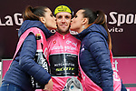 Race leader Maglia Rosa Simon Yates (GBR) Mitchelton-Scott crosses the line in 2nd place and extends his lead at the end of Stage 14 of the 2018 Giro d'Italia, running 186km from San Vito al Tagliamento to Monte Zoncolan features Europe's hardest climb, Italy. 19th May 2018.<br /> Picture: LaPresse/Gian Mattia D'Alberto | Cyclefile<br /> <br /> <br /> All photos usage must carry mandatory copyright credit (&copy; Cyclefile | LaPresse/Gian Mattia D'Alberto)