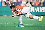 BLOEMENDAAL  - Glenn Schuurman (Bldaal) . Hoofdklasse competitie heren, Bloemendaal-HGC (7-2). COPYRIGHT KOEN SUYK
