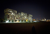 "MASSACHUSETTS, Cambridge, Nightview of  Simmons Hall, ""The Sponge"" on MIT campus."