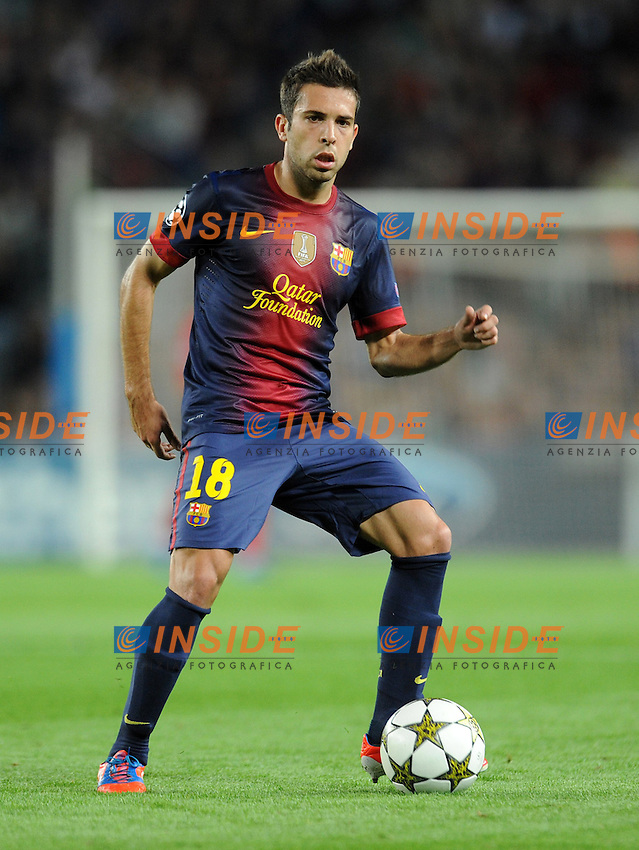 Jordi Alba ( Barcelone ) .Barcellona 23/10/2012 Camp Nou.Football Calcio 2012/2013 Champions League.Barcellona Vs Celtic.Foto Paco Largo / Panoramic / Insidefoto .ITALY ONLY