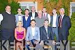 GUESTS: Billy Dennehy who was guest of honour at the Dynamos Awards night in The Meadowlands Hotel, Tralee on Sunday evening Front l-r: Noelle O'Brien, Billy Dennehy and Mark Fitzgerald. Back l-r: Pat Hartnett, Klaudio Dema, Josh O'Reilly, Noel White, John O'Regan, Brian Hill, Cian Kennedy and Martin O'Hanlon (General Secretary SFAI).