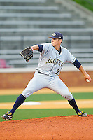 Starting pitcher Jeb Bradley #37 of the Georgia Tech Yellow Jackets in action against the Wake Forest Demon Deacons at Gene Hooks Field on April 16, 2011 in Winston-Salem, North Carolina.  Photo by Brian Westerholt / Four Seam Images
