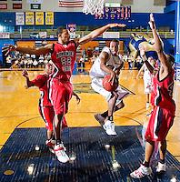 Florida International University Golden Panthers (9-12, 4-7 Sun Belt Conference) versus Arkansas State University (11-11, 6-4 Sun Belt Conference) at Pharmed Arena, Miami, Florida on Saturday, January 27, 2007.  The Golden Panthers defeated ASU, 80-61...Junior guard Michael James (3)