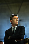 © Joel Goodman - 07973 332324 . 23/06/2016 . Manchester , UK . ANDY BURNHAM at the declaration in The Great Hall in the EU referendum at Manchester Town Hall . Photo credit : Joel Goodman