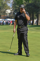 Phil Mickelson (USA) after making his long par putt on 9  during round 4 of the World Golf Championships, Mexico, Club De Golf Chapultepec, Mexico City, Mexico. 3/4/2018.<br /> Picture: Golffile | Ken Murray<br /> <br /> <br /> All photo usage must carry mandatory copyright credit (&copy; Golffile | Ken Murray)