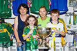 Eileen, Alana and Evan Kelleher Cordal with Christine Cooper at the Kerry GAA shop on Sunday