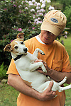 Dave Walker with his Jack Russell terrier.