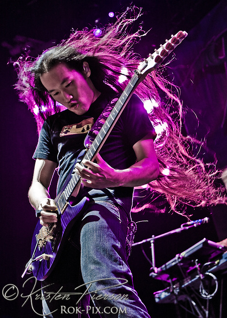 Dragonforce performing at Mayhem at Comcast Center in Mansfield on August 5, 2008