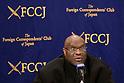 Kickboxer and media personality Bob Sapp speaks at FCCJ