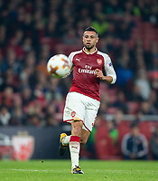 Francis Coquelin of Arsenal during the UEFA Europa League group stage match between Arsenal and FC Red Star Belgrade at the Emirates Stadium, London, England on 2 November 2017. Photo by Andy Rowland.