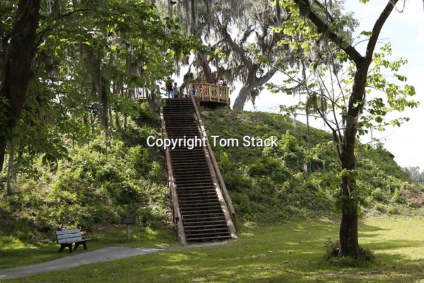 Temple Mound five at Crystal River Archaeological State Park