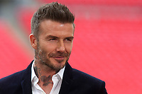 David Beckham, one of the class of 92, is at Wembley supporting Salford during AFC Fylde vs Salford City, Vanarama National League Football Promotion Final at Wembley Stadium on 11th May 2019