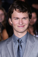 """WESTWOOD, LOS ANGELES, CA, USA - MARCH 18: Ansel Elgort at the World Premiere Of Summit Entertainment's """"Divergent"""" held at the Regency Bruin Theatre on March 18, 2014 in Westwood, Los Angeles, California, United States. (Photo by David Acosta/Celebrity Monitor)"""