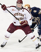 Patrick Brown (BC - 23) - The visiting University of Notre Dame Fighting Irish defeated the Boston College Eagles 7-2 on Friday, March 14, 2014, in the first game of their Hockey East quarterfinals matchup at Kelley Rink in Conte Forum in Chestnut Hill, Massachusetts.