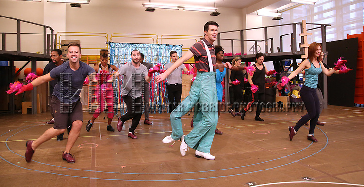 Gavin Lee and cast during the Rehearsal Press Preview of the New Broadway  Musical on 'SpongeBob SquarePants'  on October 11, 2017 at the Duke 42nd Street Studios in New York City.