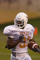 01 APRIL 2006: University of Texas corner back Aaron Ross returns a kickoff at Darrell K. Royal Memorial Field during the Longhorns annual spring Orange vs White Scrimmage.