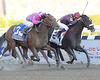Jackson Bend and Corey Nakatani edge out Caleb's Posse and Rajiv Majragh to capture The Carter Grade I at Aqueduct, New York....4/7/12
