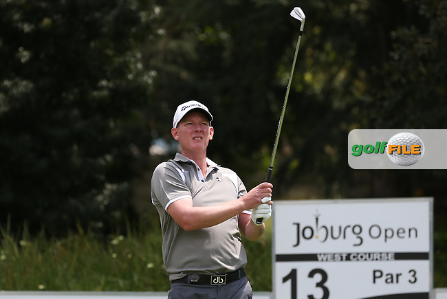 Daniel Gaunt (ENG)  plays to the par 3 13th on the West Course during Round Two of the Joburg Open 2015 at the Royal Johannesburg & Kensington Golf Club, Johannesburg, Gauteng, South Africa. Picture:  David Lloyd / www.golffile.ie. 27/02/2015