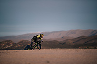 Svein Tuft (CAN/Michelton-Scott) during TT training at dawn at the Circuito de Almeria Fans with the mighty Sierra Nevada as a backdrop<br /> <br /> Michelton-Scott training camp in Almeria, Spain<br /> february 2018