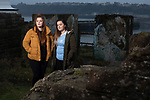 Members of We Will, an advocacy group established by young people to campaign for better youth mental health services in Cumbria, pictured in Maryport, where they meet regularly. Pictured are group members (left to right) Chloe Wilson, 17 and Rebecca Woods, 16.