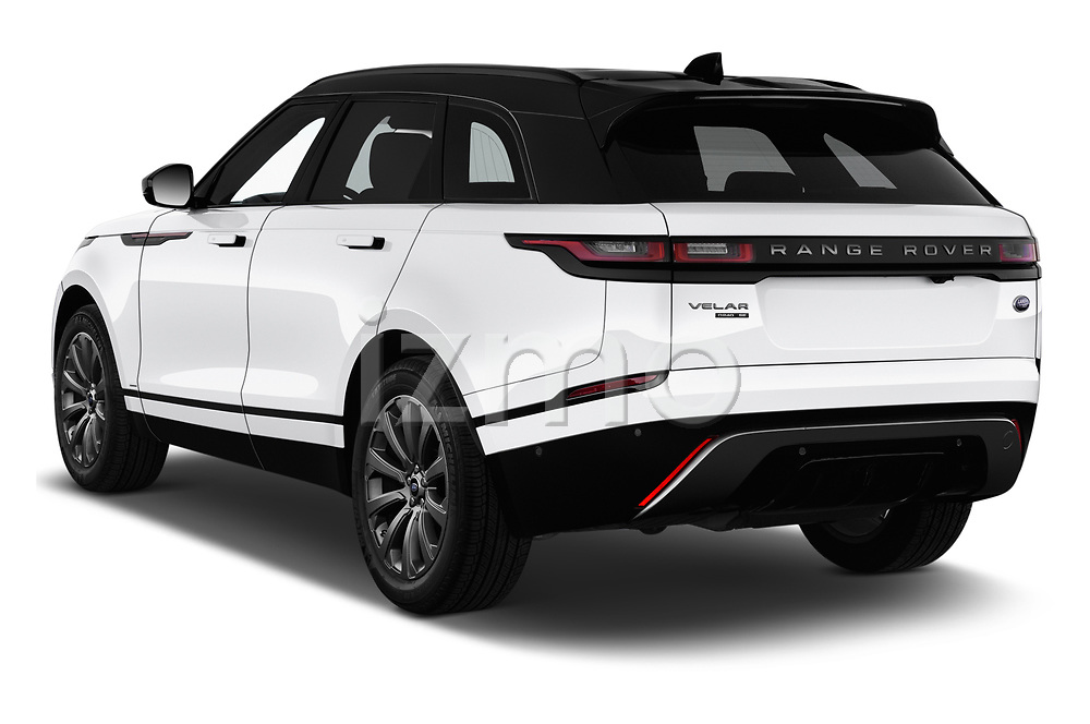 Car pictures of rear three quarter view of a 2018 Land Rover Range Rover Velar R-Dynamic SE 5 Door SUV angular rear