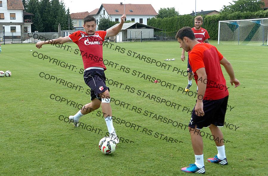 FUDBAL - PRIPREME - CRVENA ZVEZDA - TRENING - Zoran Rendulic i Dusan Andjelkovic fudbaleri Crvene Zvezde na treningu.<br /> Brezice, 18.06.2015.<br />                              foto:N.Skenderija