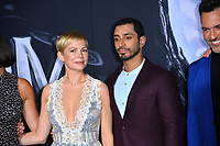 "LOS ANGELES, CA. October 01, 2018: Michelle Williams & Riz Ahmed at the world premiere for ""Venom"" at the Regency Village Theatre.<br /> Picture: Paul Smith/Featureflash"