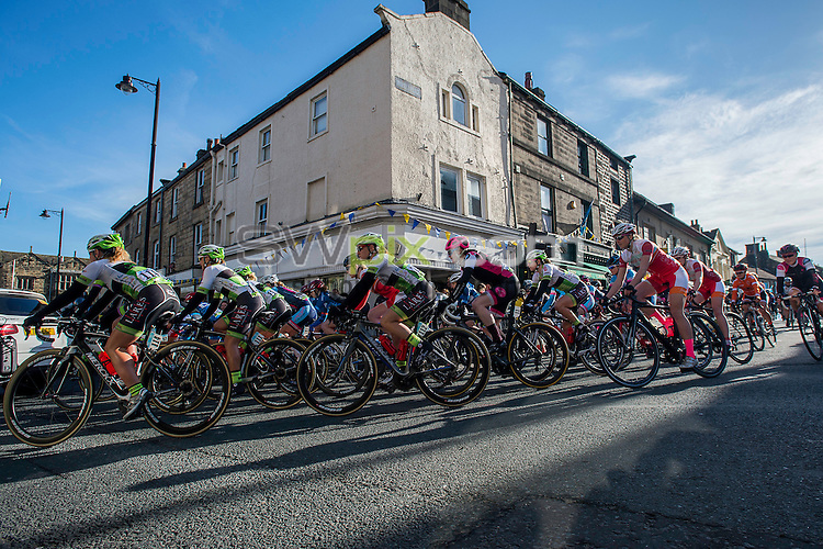 Picture by Allan McKenzie/SWpix.com - 30/04/2016 - Cycling - 2016 Asda Women's Tour de Yorkshire: Otley to Doncaster - Yorkshire, England - Riders set off at the Women's TDY race in Otley.