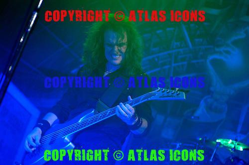 David Ellefson; Megadeth;  Live, In New York City, 2011.Photo Credit: Eddie Malluk/Atlas Icons.com