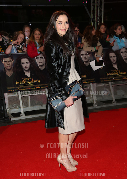 "Victoria Pendleton arriving for the ""The Twilight Saga: Breaking Dawn Part 2"" premiere at the Odeon Leicester Square, London. 14/11/2012 Picture by: Henry Harris / Featureflash"