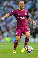 David Silva of Manchester City (21) In action  during the EPL - Premier League match between Brighton and Hove Albion and Manchester City at the American Express Community Stadium, Brighton and Hove, England on 12 August 2017. Photo by Edward Thomas / PRiME Media Images.